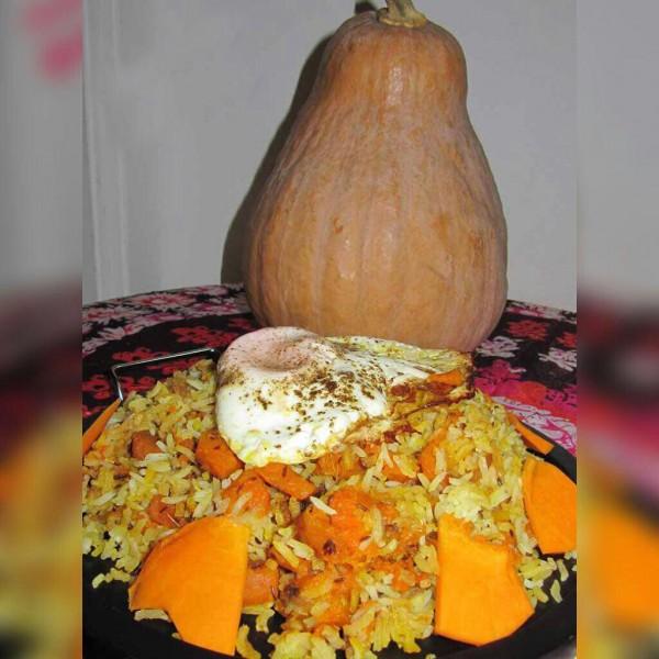 کئی پلا(کدو پلو) غذای محلی مازندران