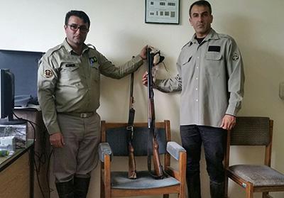 دستگیری دو شکارچی متخلف در بابل